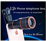 12X HD Zoom Mobile Phone Telescope Lens with Adjustable Clip Mobile Phone Lens with Adjustable Clip Holder