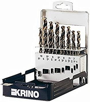 Krino Estuche de Brocas Acero Rápido y Cobalto Visidex a 10 Mm, 19 Unidades: Amazon.es: Bricolaje y herramientas