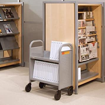 Bretford BOO227 Aluminio, Metálico carrito para libros - Carritos para libros (660,4 mm, 335,6 mm, 838,2 mm, 12,2 kg): Amazon.es: Hogar