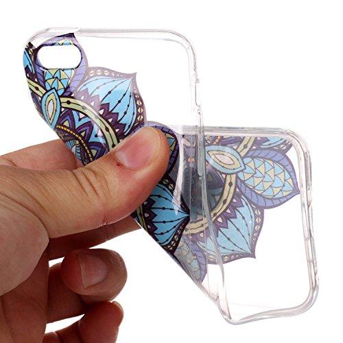 """Hülle iPhone 6 Plus / 6S Plus , LH Halbe Blumen TPU Weich Muschel Tasche Schutzhülle Silikon Handyhülle Schale Cover Case Gehäuse für Apple iPhone 6 Plus / 6S Plus 5.5"""""""