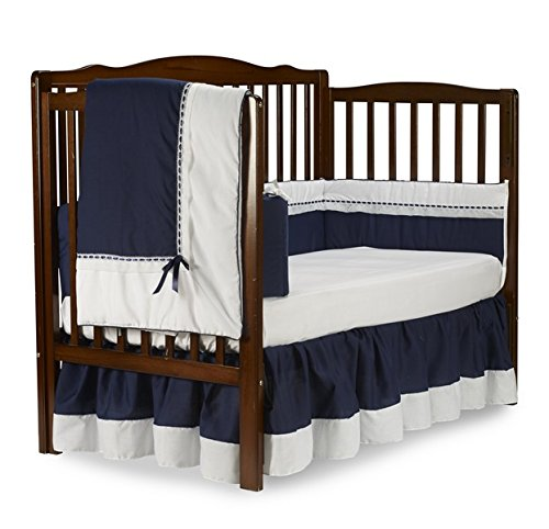 Baby Doll Bedding Royal Crib Bedding Set, Navy