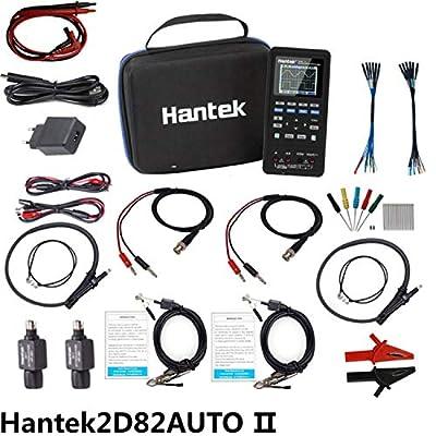 Handheld Oscilloscope Hantek2D82AUTO 4 in 1 Multifunction Tester of Automotive Diagnostic oscilloscope Signal Source and multimeter (2D82 II)