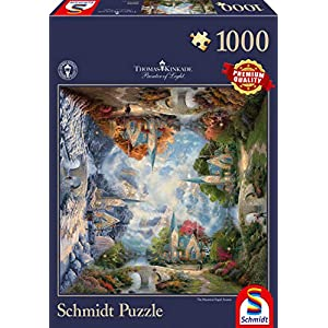 Schmidt Thomas Kinkade Puzzle Tematica Chiesa Di Montagna 1000 Pezzi