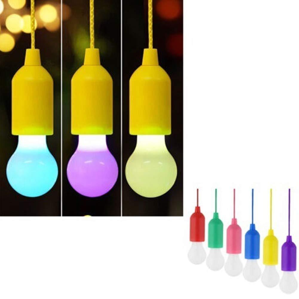 Alivier Tragbares LED-Birnen-Licht auf Einer Seil-h/ängenden Zugkabel-Lampen-Batterie betrieben