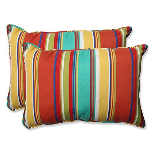 (Pillow Perfect Outdoor Westport Spring Over-Sized Rectangular Throw Pillow, Multicolored, Set of 2)