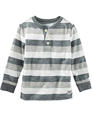 Oshkosh Boy's Striped Gray Henley 6 Months