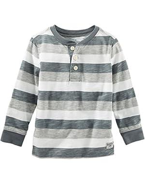 Oshkosh Boy's Striped Gray Henley 6 Months