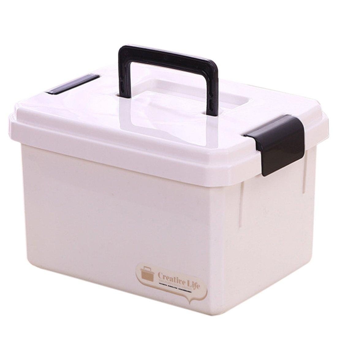 Portables M/édecine Stockage,6.5L Tosbess Bo/îte Multi-Usage /à Pharmacie avec Poign/ée de Transport Barres