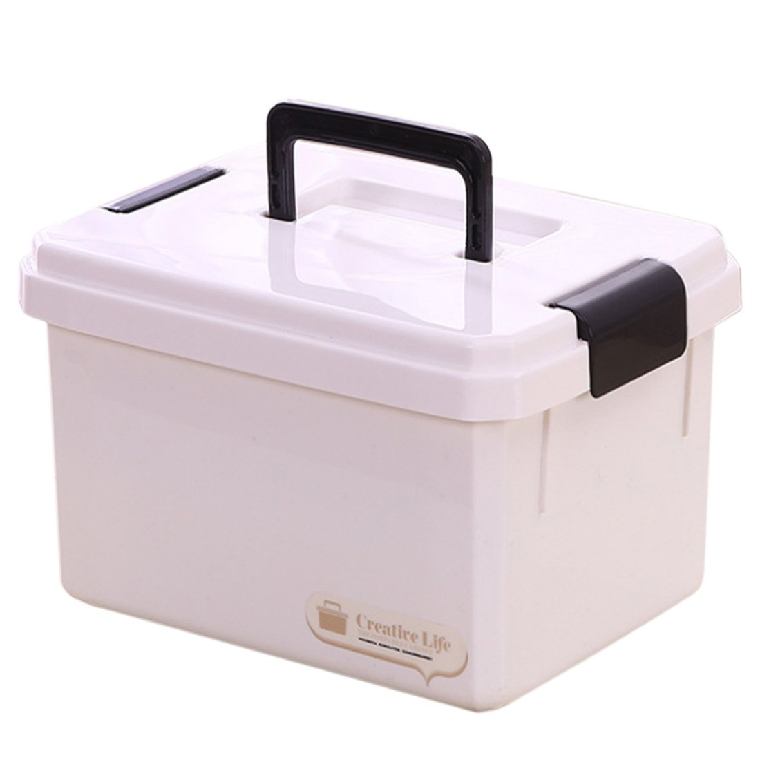 Haoun Medicine Box,Double-Layer First Aid Kit Portable Medicine Cabinet Family Emergency Kit Storage Box- Large