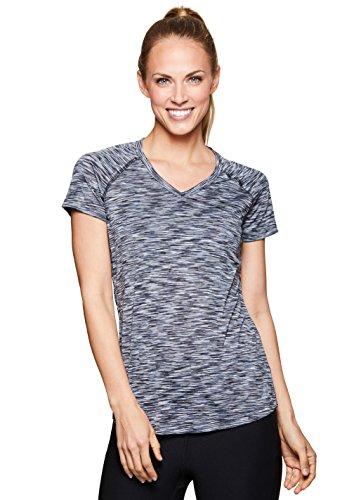 - RBX Active Women's Short Sleeve Yoga Workout Shirt Spring Black M
