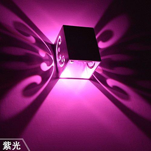 Butterfly a piedi da parete LED sorgente di luce oggetti di deation, illuminazione per corridoio lounge di nascosto 3W viola camere camere bagno piano stanza dei bambini