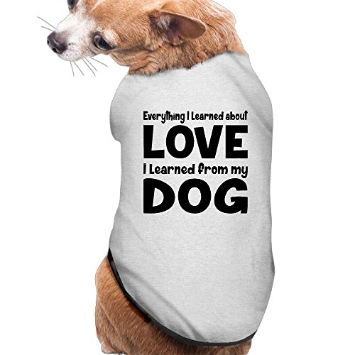 YRROWN Love That I Learned From My Dog Puppy Dog Clothes