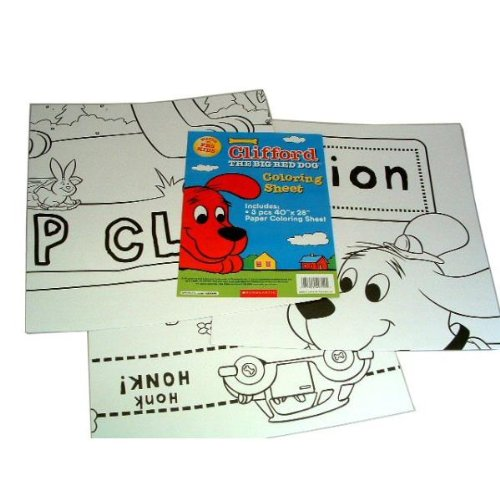 UPC 071922403125, Clifford The Big Red Dog Coloring Sheets (Pack Of 72)