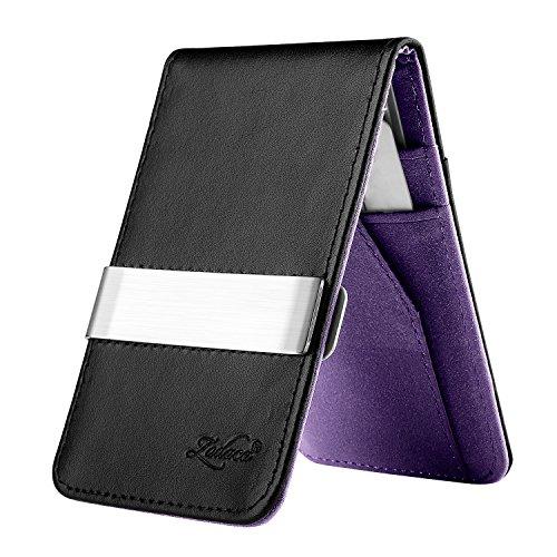 zodaca-horizontal-genuine-leather-money-clip-wallet-black-purple