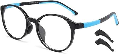 livho Kids Blue Light Blocking Glasses, Computer Gaming TV Glasses for Boys Girls Age 3-15 Anti Glare & Eyestrain & Blu-ray