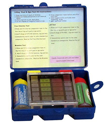 Swimming pool water test kit for chlorine bromine and ph buy online in uae lawn garden for How to test swimming pool water