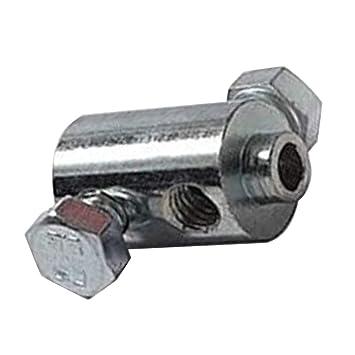 Prisionero Tornillo Cable doble tornillo 12mm x 21mm universal Moto CICLOMOTOR Moto Embrague Gas Freno Acelerador Palanca: Amazon.es: Coche y moto