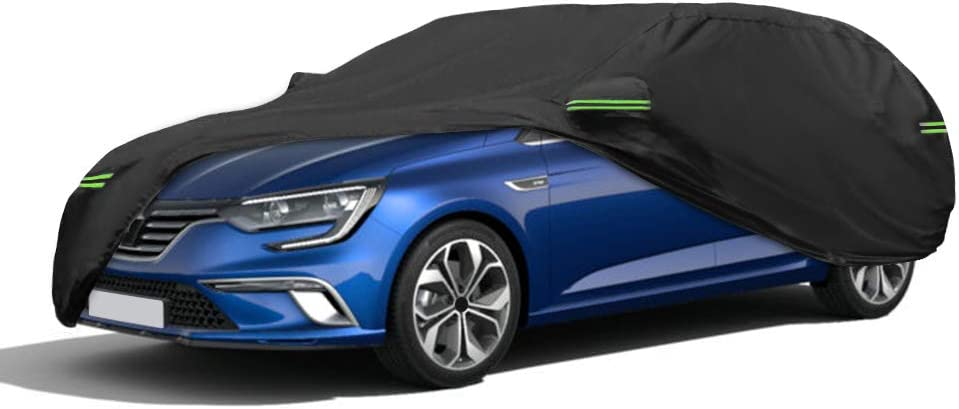 NEVERLAND Housse de Voiture Auto Compatible pour Renault Trafic Combi en 420D Oxford Noir