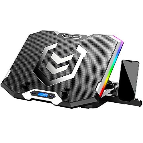 🥇 ICE COOERL RGB Laptop Cooling Pad for 15.6-17 Inch