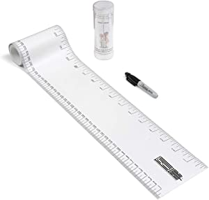 TALLTAPE - Portable, Roll-up Height Chart Plus 1 Sharpie Marker Pen to Measure Children from Birth, Choice of 10 Designs, a Memento for Life (Talltape, White)