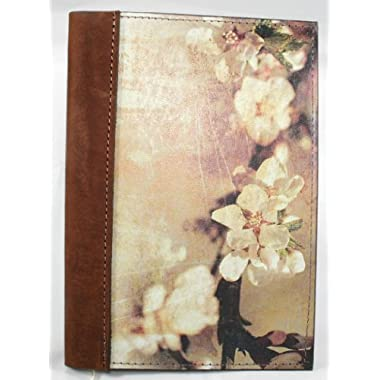 Leather Journal / Leather Notebook / Leather Diary with Apple Blossom Image 5  X 7  Genuine Top Grain Leather - Log and Record Your Favorite Apples and Recipes, Lined Kraft Paper Insert (Refills Available) Handcrafted in USA