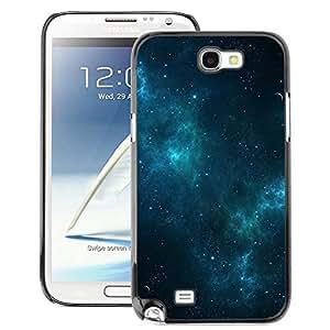 A-type Arte & diseño plástico duro Fundas Cover Cubre Hard Case Cover para Samsung Note 2 N7100 (Galaxy Stars Blue Night Mist Sky)