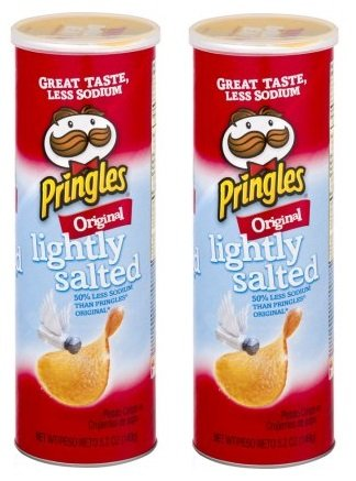 Pringles Potato Crisp Chips Lightly Salted Original, 5.2 OZ (Pack of 2)
