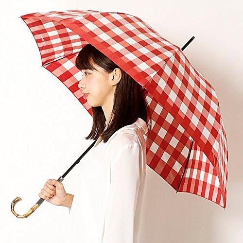 ジルスチュアート(雑貨)(JILLSTUART ) 【雨傘】ギンガムチェック柄(長傘/レディース) B076C633VC 60|レッド レッド 60