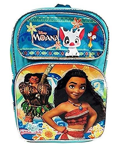 62f636d31b57 Disney Movie Moana, Maui, Pua & Heihei Large School Backpack Book Bag