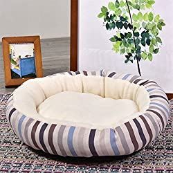 Zehui House for Cat and Dog Cashmere Cute Soft Warm Comfortable Round Nest Pet Bed
