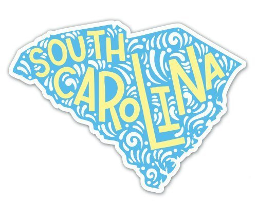 (VR Graphics MAGNET South Carolina Shape Cute Letters Native Local - Large Size Vinyl Sticker Decal - Outdoor Indoor Sticker 16