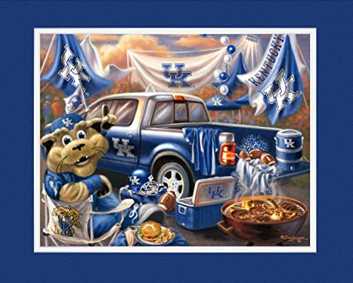 Prints Charming College Tailgate Kentucky Wildcats Unframed Poster 12x16 Inches