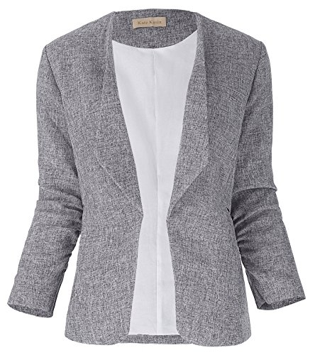 Women's Lapel Collar Slim Blazer Casual Light Jackets Size M KK470-1