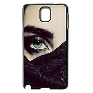 Naza Eye Samsung Galaxy Note 3 Case Hide Green Eyes Protective Cute for Girls, Samsung Galaxy Note3 Cases Protective Cute for Girls [Black]