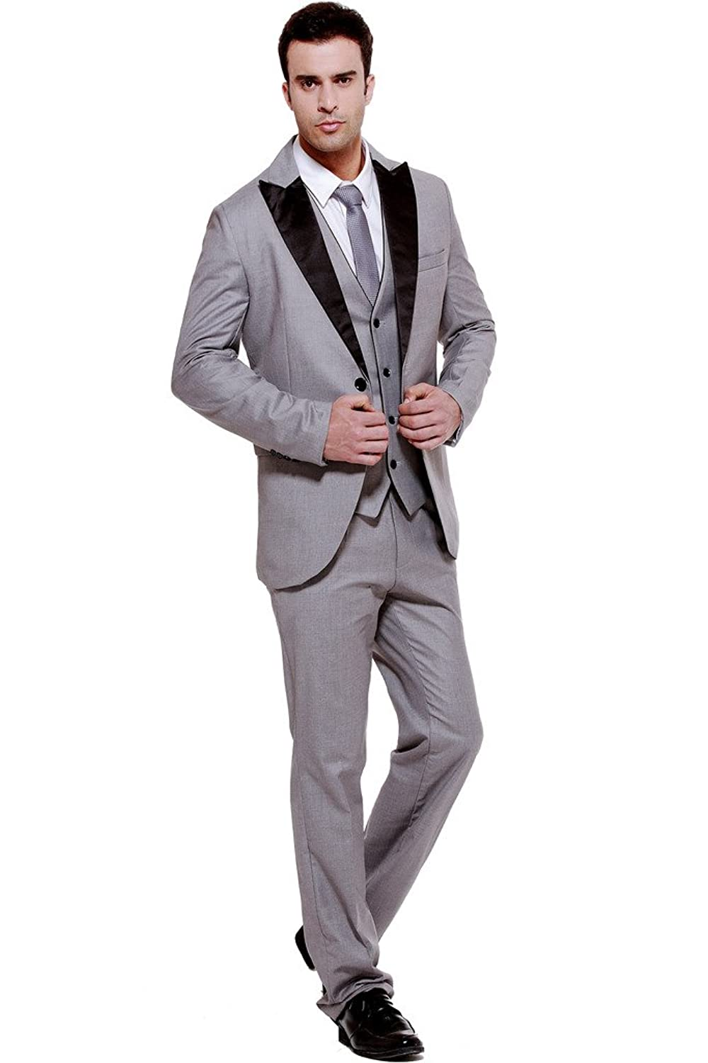 Hanayome Men\'s 3-Piece Suit Blazer Jacket Groom Wedding Tux Vest ...