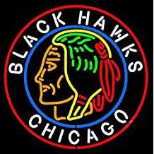New Larger Chicago Black Hawks Neon Light Sign 24''x24'' H601d(no More Long Waiting for Weeks/months with Fast Shipping From Ca with Free Usps Priority Mail) by BEST NEON SIGNS WHOLE SELLER & RETAILER