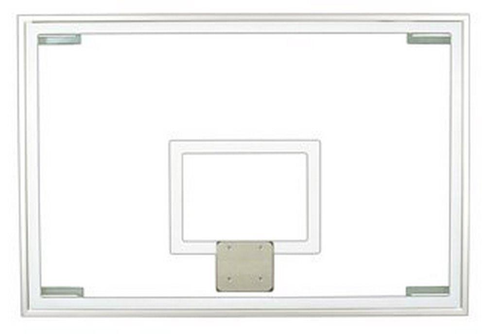 最初チームft236強化ガラス48 x 72 in。公式ガラスbackboard44 ;マルーン B01HC0DIWC