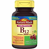 Nature Made Sublingual Vitamin B12 1000 mcg. Cherry Flavored Lozenges (.250 Count)
