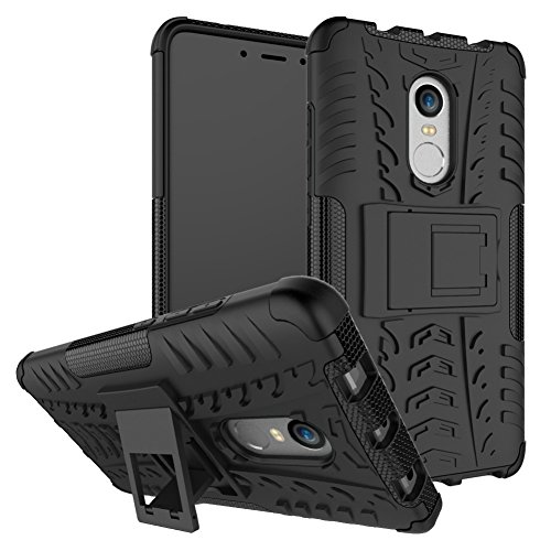 Price comparison product image Xiaomi Redmi Note 4X Case Hybrid DWaybox Rugged Heavy Duty Armor Hard Back Cover Case with Kickstand for Xiaomi Redmi Note 4X / Xiaomi Redmi Note 4 / Hongmi Note 4 5.5 Inch (BlacK)