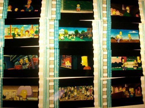 simpsons-lot-of-12-35mm-film-cells-collectible-memorabilia-compliments-dvd-po