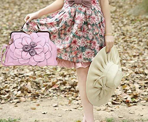 femme Sac à Pink Sac Cuir fille en bandoulière porté épaule main pour OHmais Sac PU aqxnSS