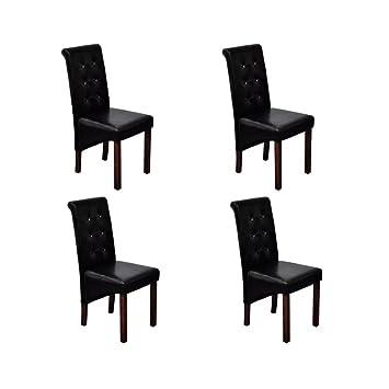 furnituredeals chaise simili cuir chaise antique simili cuir noir lot de 4 pouf simili - Chaise Simili Cuir