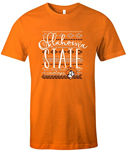 NCAA Oklahoma State Cowboys Women's Pattern Lines Favorite Short sleeve T-Shirt, - Pattern Oklahoma State