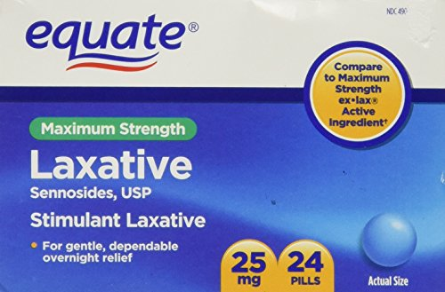 Equate - Laxative, Maximum Strength, Sennosides 25 mg, 24 Pills (Compare to ex-lax)