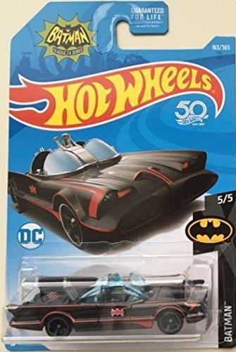 Hot Wheels 2018 50th Anniversary Batman Classic TV Series Batmobile 163/365 (Tv Batmobile)