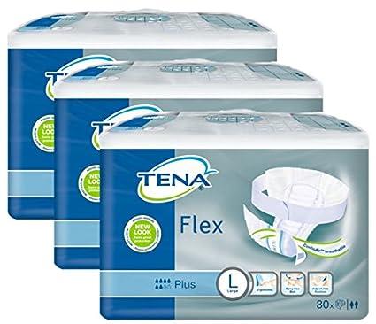 Tena Flex Plus Large – Caja de 90 pannoloni a cinturón