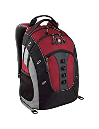 "SwissGear Granite 16\"" Computer Laptop Backpack - Red"