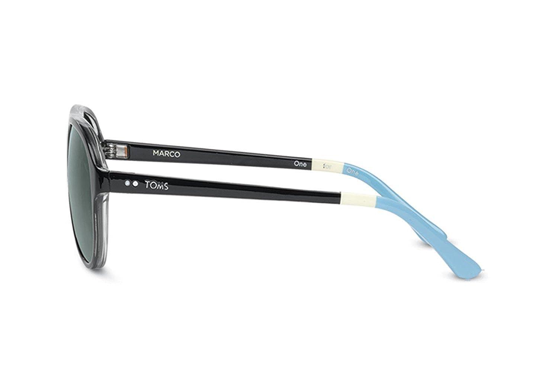 f3b0e61b0b7f Amazon.com: Toms Sunglasses Marco Cats 5000 - S008 Black White Blue  Polarized S008-001-03p: Clothing