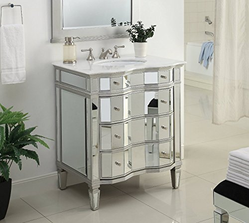 30 Mirrored W Silver Trim Bathroom Sink Vanity Cabinet Mirror Included Ashley Bwv 025 30 2434 Buy Online In Aruba At Aruba Desertcart Com Productid 32129682