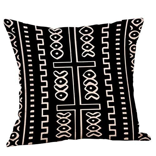 jufengliangyou Geometric Pattern Linen Pillow Pillowcase Cushion Cushion Decorative Backrest Pillow A Variety of Colors (E) ()